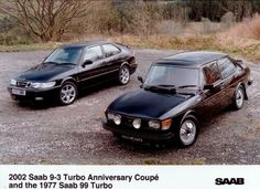 The 2002 Saab 9-3 Turbo Anniversary Coupe & The 1977 Saab 99 Turbo