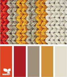 knit autumn color palette from design seeds Bedroom Color Schemes, Colour Schemes, Color Patterns, Color Combinations, Bedroom Colors, Colour Palettes, Design Seeds, Yarn Colors, Colours