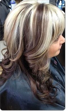 Dark brown hair with chunky blonde highlights chunky blondes by love just not soo dark black highlights chunky blonde highlights hair pmusecretfo Images