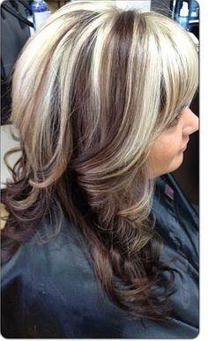 Chunky blonde highlights on dark brown hair gallery hair blonde hair with chunky dark brown highlights the best blonde chocolate brown hair color with blonde pmusecretfo Images