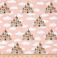 Moda Storybook fabric | Moda Storybook Castles Peach