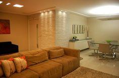 Apartamento 140m2 Olinda- Home Decor- Decoração- Arquitetura Residencial- Design de Interiores- Sala de Estar e Jantar- Revestimentos- Iluminação Pontual