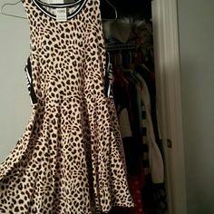 PINK leopard dress Worn twice size small PINK Victoria's Secret Dresses Mini