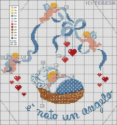 This Pin was discovered by Let Baby Cross Stitch Patterns, Cross Stitch For Kids, Cross Stitch Books, Cross Stitch Art, Cross Stitch Designs, Cross Stitching, Baby Duvet, Disney Home Decor, Crochet Baby Booties