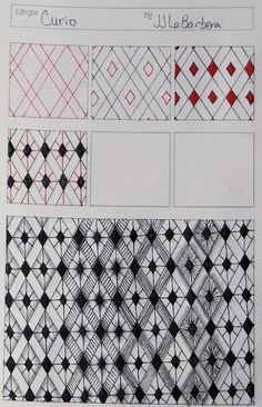 Love the patterns. Love the template. I could see doing this with students for art and math.