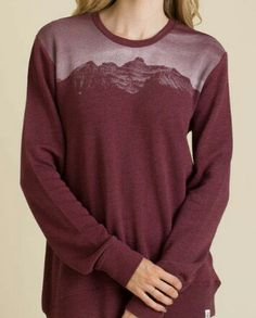 Maroon save the forest ten tree sweater