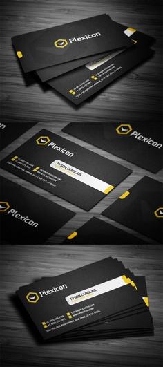 Plexicon #Business #Card #Design   #identity #branding #marketing #flat #simple #stylish #inspiration
