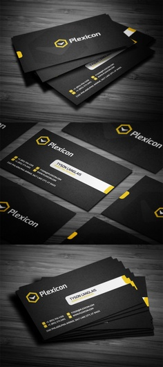Plexicon #Business #Card #Design | #identity #branding #marketing #flat #simple #stylish #inspiration