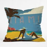 Found it at Wayfair - DENY Designs Anderson Design Group Miami Woven Polyester Throw Pillow