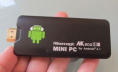 The Rikomagic MK802 III Android mini PC inlcude a Rockchip Rk3066 ARM Cortex-A9 dual core processor, supported by 1GB of RAM, and it comes preloaded with Google's latest Android 4.1 Jelly Bean operating system, and access to the Google Play Store.