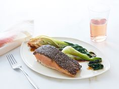 Chia Crusted Salmon with Soy Bok Choy Recipe : Food Network Kitchen : Food Network - FoodNetwork.com