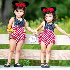 Beautiful sisters twinning in our Mickey Mouse Sparkle Romper 👯✨✨ I love seeing your babes grow and still sparkle in @bellethreads  As we continue to grow, it's still always such an honor that you continue to choose us for your b