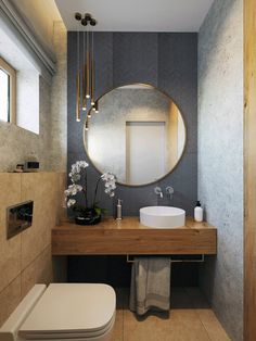 Gray and wood in a family home (design by Motif Design) - New Ideas house Small bathroom design ideas apartment therapy - living design, Wc Design, Motif Design, Design Ideas, Design Inspiration, Bathroom Design Luxury, Best Bathroom Designs, Bathroom Inspiration, Cheap Home Decor, Small Bathroom