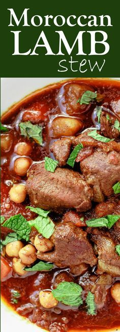 Moroccan Lamb Stew Recipe   The Mediterranean Dish. A comforting lamb stew, spiced Moroccan-style and cooked to tender perfection with potatoes, carrots and chickpeas. Recipe comes with braising and slow-cooker instructions. See the recipe on TheMediterraneanDish.com