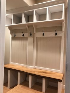 Hall tree/entry locker with a live edge oak bench
