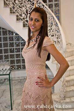Коктейльное платье крючком отДжованны Диас со схемами. Нарядное платье крючком   Я Хозяйка