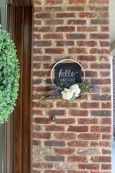 Spring Porch Welcome Boxwood Wreath, East Tennessee, Spring Weather, Chalkboard Art, Front Door Decor, Hydrangea, Sunny Days, Welcome, Bliss