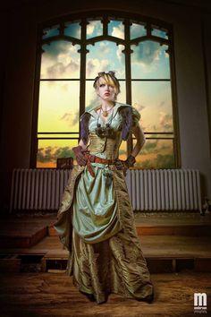 Steampunk Skirt, Overskirt and Long Vest