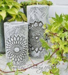 DIY: concrete candle holder / Kerzenständer aus Zement - Smillas Wohngefühl