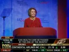 Pelosi: we have to pass the health care bill so that you can find out what is in it. If that doesn't scare the hell out you, I don't know what would.