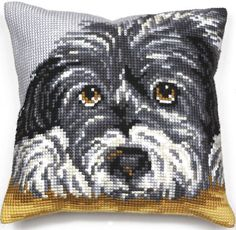 This lovely cushion panel kit features an adorable dog design that is a pleasure to complete; a perfect challenge for those looking to improve their skills.