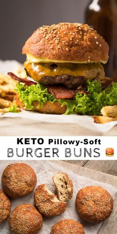 Count on these yeast gluten free, paleo and keto burger buns to be pillowy-soft, extra sturdy, absolutely delicious and with a killer crumb! Easy Keto Bread Recipe, Best Keto Bread, Paleo Recipes, Paleo Bread, Bread Recipes, Recipe Breadmaker, Keto Bread Coconut Flour, Keto Flour, Almond Flour