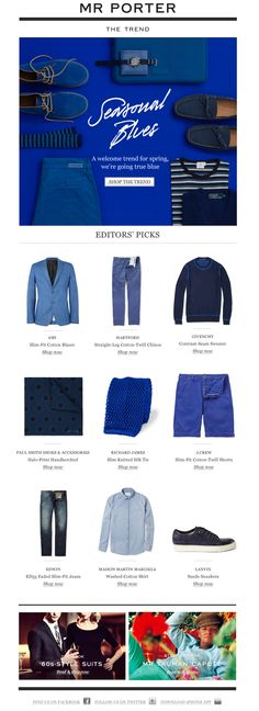 Mr. Porter Newsletter - Shop the Trend