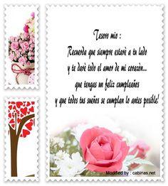 buscar bonitos mensajes de amor de cumpleaños,enviar romànticas dedicatorias de cumpleaños : http://www.cabinas.net/mensajes_de_texto/mensajes_de_cumplea%C3%B1os.asp