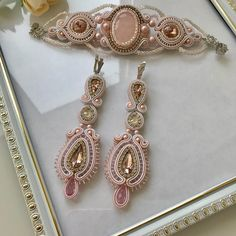 Soutache Bracelet, Soutache Jewelry, Shibori, Beaded Embroidery, Jewelery, Dangles, Bride, Bracelets, Crafts