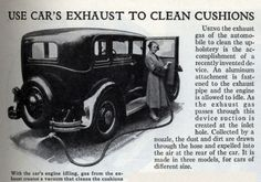 Yep. Pull your car into the garage, shut all the doors and windows, and use the exhaust to clean the upholstery!