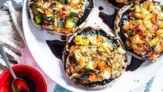 Planned Potluck: Savory Stuffed Portobello Mushrooms