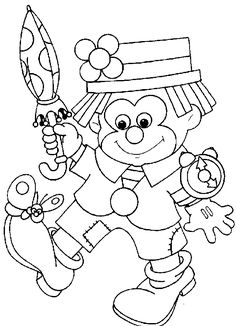 Coloring pages for kids to print - Clowns and circus coloring… Printable Coloring Pages, Colouring Pages, Coloring Sheets, Adult Coloring, Creative Writing Pictures, Circus Crafts, Clowns, Disney Cross Stitch Patterns, Le Clown
