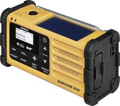 DAB+ Outdoorradio Sangean Survivor (MMR-88) DAB+, USB, UKW Akku-Ladefunktion, Taschenlampe, wiederaufladbar Gelb Radios, Dab Radio, Led, Conditioner, Home Appliances, Products, Flashlight, Switzerland, House Appliances