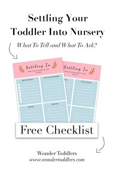 Settling Your Toddler Into Nursery   Wonder Toddlers