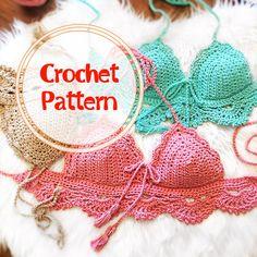 Crochet PATTERN- Mermaid Shell Top pattern, crop top pattern- easy pattern, beginner crochet pattern- PDF, EASY crochet pattern- Tutorial