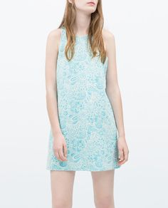 JACQUARD DRESS WITH LOW BACK from Zara