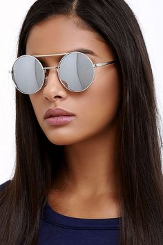 These A. J. Morgan Round Here Silver Sunglasses are only $16 on ShopStyle!