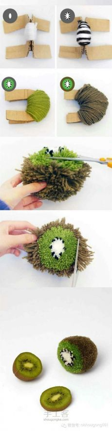 非常有趣而且简单的一种编织方法。用来钩包……_来自堆针线的图片分享-堆糖