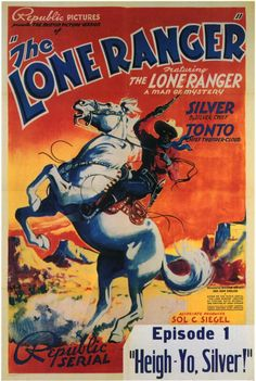 The Lone Ranger (Republic, Stock One Sheet X With his faithful companion, Tonto, the masked Lone Ranger makes his cinema. Western Film, Western Art, Comics Vintage, Vintage Posters, Old Movies, Vintage Movies, Vintage Tv, Vintage Horror, Man Of Mystery