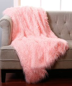 Another great find on #zulily! Pink Faux Fur Lounge Throw #zulilyfinds