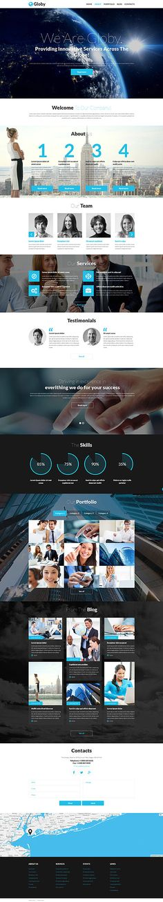 Template 53528 - Globy Business  Responsive Joomla Template