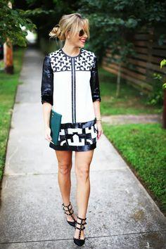 Black & White Sequins