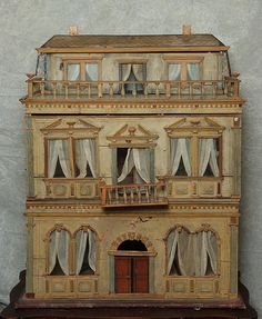 A Remarkable Christian Hacker dollhouse from the 1860's