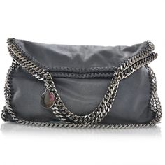 Fashionphile - STELLA MCCARTNEY Faux Leather Falabella Tote Blue ❤ liked on Polyvore