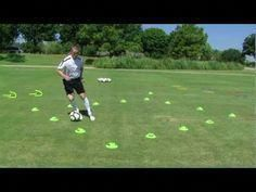 First Touch Training Precision Dribbling Series: Volume 1 (Complications Excerpt) Soccer Dribbling Drills, Football Training Drills, Soccer Drills For Kids, Soccer Pro, Football Workouts, Good Soccer Players, Soccer Practice, Soccer Skills, Soccer Coaching