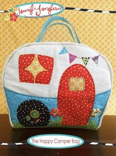 ✿ The Happy Camper Bag PDF Sewing Pattern by Jennifer Jangles + 9 More Applique Projects