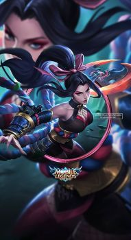 Wallpaper Phone Hanabi Scarlet Flower By Fachrifhr Moba Mobile Legend Wallpaper Miya Mobile Champions League Of Legends, Lol League Of Legends, League Of Legends Characters, Female Characters, Fantasy Characters, Wallpapers For Mobile Phones, Gaming Wallpapers, Animes Wallpapers, Mobile Legend Wallpaper