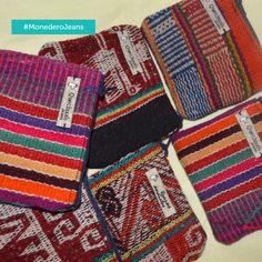 Billeteras Trazos: Jeans con mantos andinos exportado del Cusco