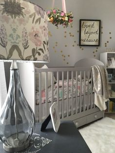 This gray crib from