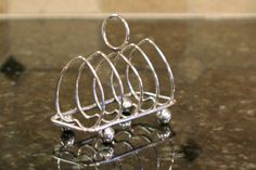 Antique Sterling Silver Toast Rack  Walker & Hall by PearlsParlor